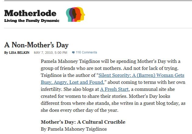 New York Times MotherLode Guest Post
