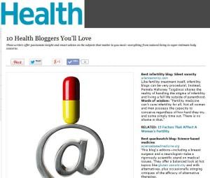 health infertility blogger