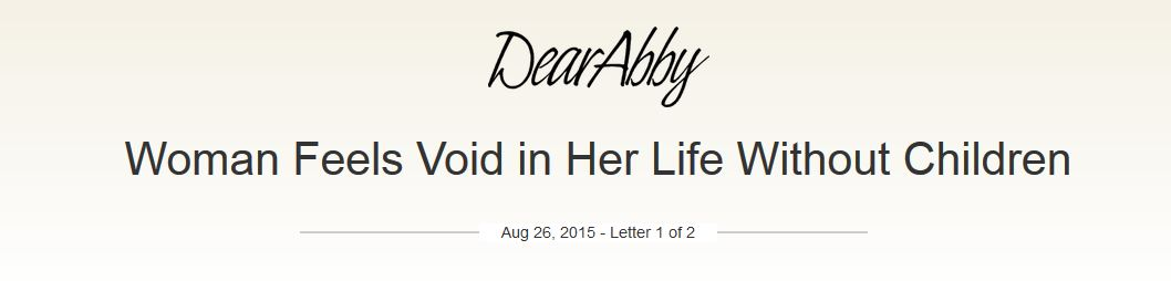 Dear Abby Infertility